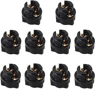 WLJH 10pcs T5 Twist Lock Socket 74 73 37 2721 Wedge Base 3/8
