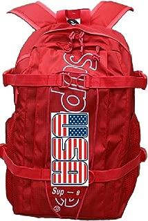 lv supreme backpack red