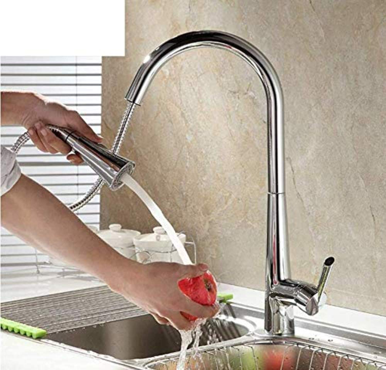 Retro Wasserhahn Küchenarmatur Vollkupfer Küchenarmatur Pull-Out kalt und hei Zug Waschbecken Waschbecken Wasserhahn