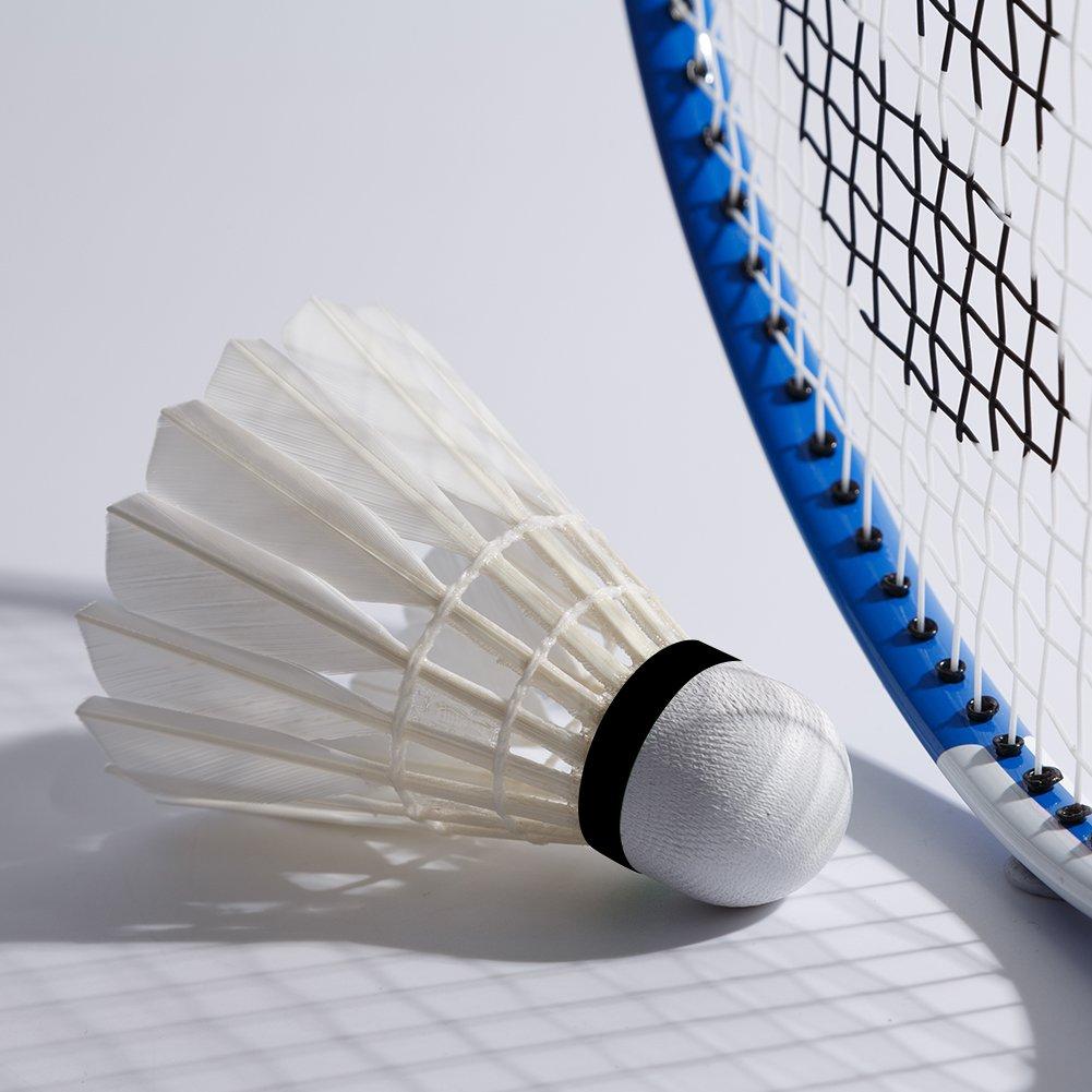 Senston A8 12 piezas Volantes de B/ádminton Juego de Plumas Badminton White Duck Badminton Ball Indoor Outdoor Entrenamiento Deportes Badminton