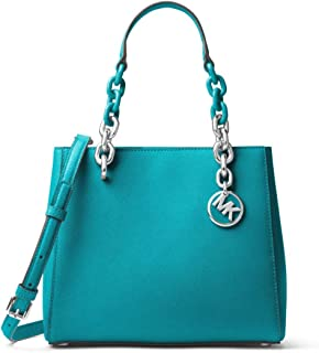 963813477a572d MICHAEL Michael Kors Cynthia Small Saffiano Leather Satchel in Tile Blue