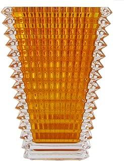 Baccarat Small Rectangular Eye Vase- Amber