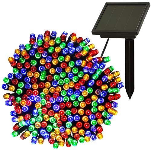Solar Lights Outdoor Garden, 17.5M/57Ft 250 LED Outdoor Fairy Lights Solar Powered Waterproof, Multi-Color Solar String Lights for Garden, Trees, Patio, Party, Chrismas Decoration (Multi-Coloured)