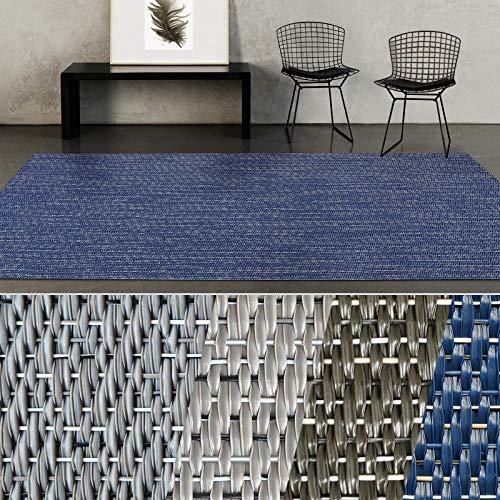 casa pura® Indoor- & Outdoor-Teppich Pisa | Bodenbelag für Flur, Küche, Bad, Terrasse, Balkon, Garten | kunstvoll gewebt mit Schimmer Optik | Viele Größen (60x100 cm)