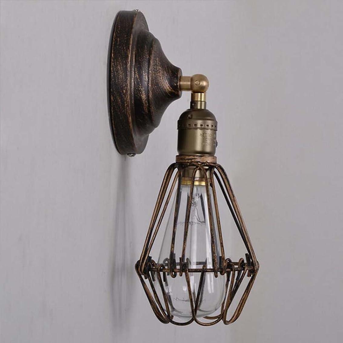 批判的不良迷信ウォールライト素朴な照明調節可能なソケットヴィンテージ燭台工業金属ケージウォールランプ付きスイッチ屋内ホームレトロ照明器具