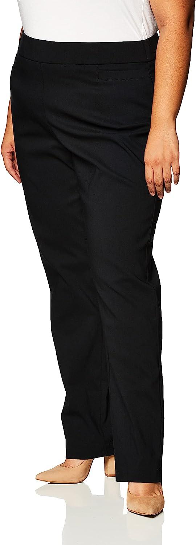 Briggs New York Women's Plus-Size Super Stretch Millennium Welt Pocket Pull-on Career Pant