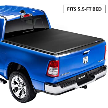 """Lund Genesis Elite Tri-Fold, Soft Folding Truck Bed Tonneau Cover 