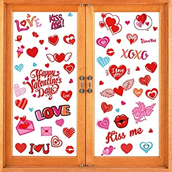 valentines day window clings