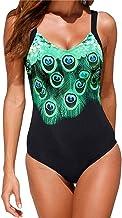 Minetom Mujer Traje De Baño Push Up Bañador Bikinis Beachwear De Playa Natación Atractivo Impresión De Pavo Real Slim