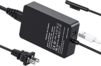 Surface Pro Charger, 44W 15V 2.58A Power Supply for Microsoft Surface Pro 3/4/5/6/Surface Laptop 2/Surface Go & Surface Book (Surface Pro Charger)