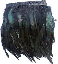 sowder gallo Hackle pluma Fringe Trim 5–7cm de ancho en pack de 5Yardas
