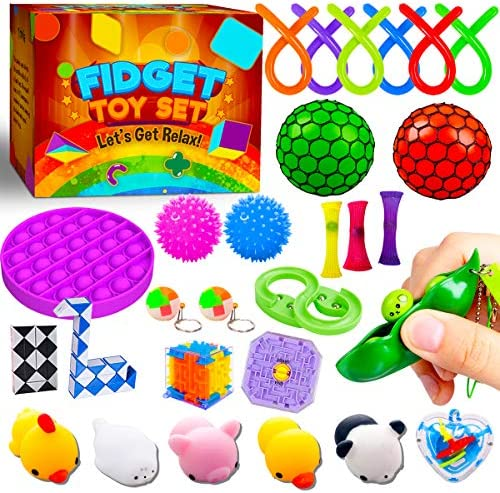 Peertoys Fidget Toys Pack Cool Stuff Stress Anxiety Relief Sensory Mochi Squishy bubble Items product image