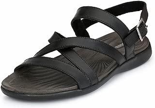 GUAVA Men's Black Leather Sandals
