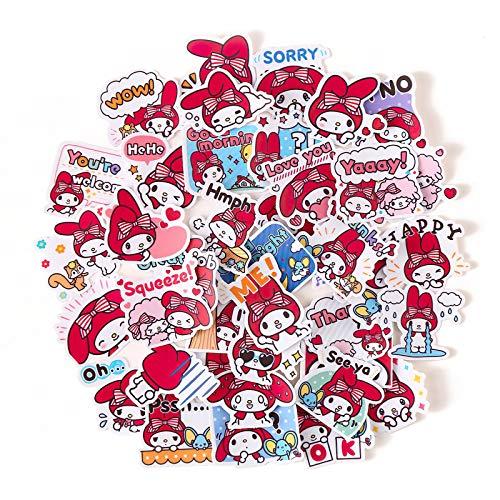 40Pcs/Pack Cute Kawaii Melody Sanrio Stickers Set Decorative Stationery Craft Stickers Scrapbooking DIY Diary Album Sticker