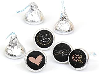 Best Day Ever - Engagement Party, Wedding or Bridal Shower Round Candy Sticker Favors – Labels Fit Hershey's Kisses (1 sheet of 108)