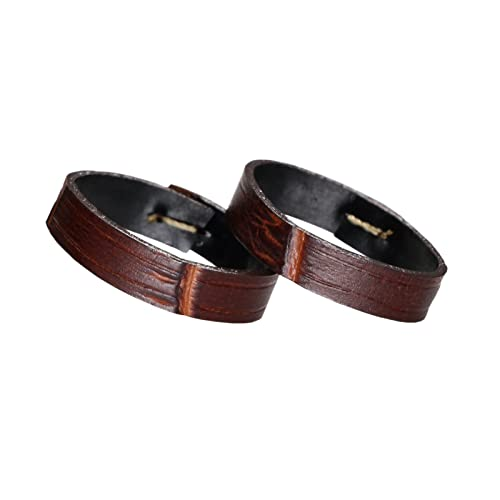 Premium Calf Hide Leather Watch Strap Loop Band Holder (Two Pieces One Pack)