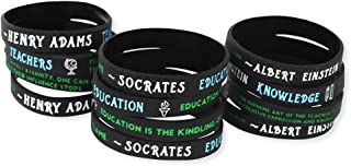 Forge Teacher Appreciation Wristbands - Inspirational Quotes Silicone Bracelets - Wholesale Value Pack - Gifts & Supplies for Teachers