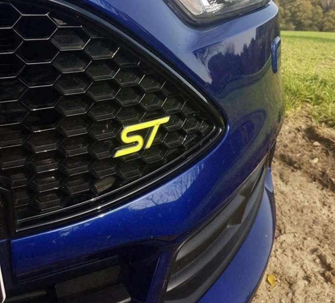 Focus St Mk3 Gel Embleme Inlay Front Heck Freie Farbwahl Rot Auto