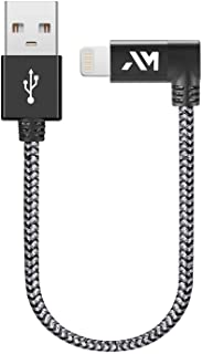 Lightning Cable, Amazer-T iPhone Charger Cable [Apple MFi Certified] 90 Degree Nylon Braided USB Cable for iPhone, iPad, i...
