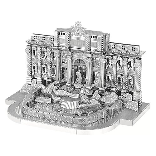 MOTU 2018 3D Metal Puzzle Roman Trevi Fountain Building Assemble Model Kits B22205 DIY 3D Laser Cut Jigsaw Toys