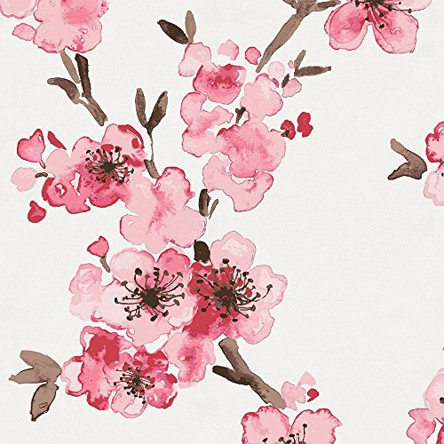 Carousel Designs Pink Cherry Blossom Fabric by The Yard - Organic 100% Cotton