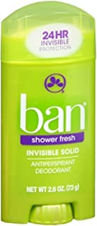 Ban Anti-Perspirant Deodorant Invisible Solid Shower Fresh 2.60 oz (Pack of 12)