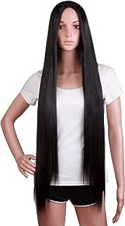 MapofBeauty 100cm Long Straight Sexy Costume Anime Wig (Black)
