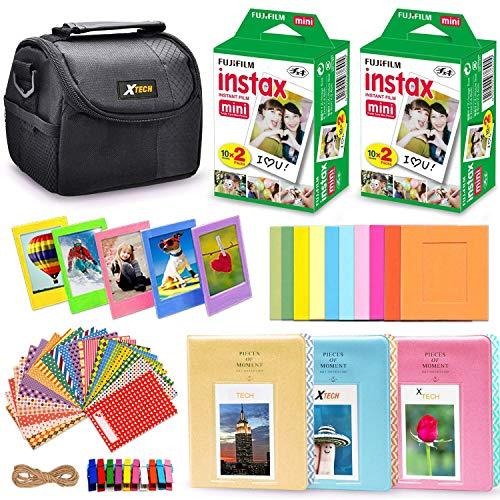 Xtech FujiFilm Instax Mini PRO Accessories Kit f/Fujifilm Instax Mini 8, Mini 8+, Mini 70, Mini 7, Mini 7s, Mini 90, Mini 25, Mini 50s Includes: 40 Instax Film + Frames + Case + Photo Albums + More