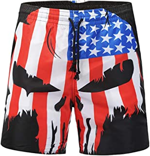 BESPORTBLE 1 Pcs Pant National Flag Skull Head Beach Pants Loose Pants Quick Drying Pants for Swimming Summer Pool Party