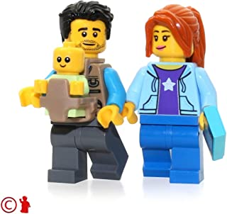 lego dad with baby carrier