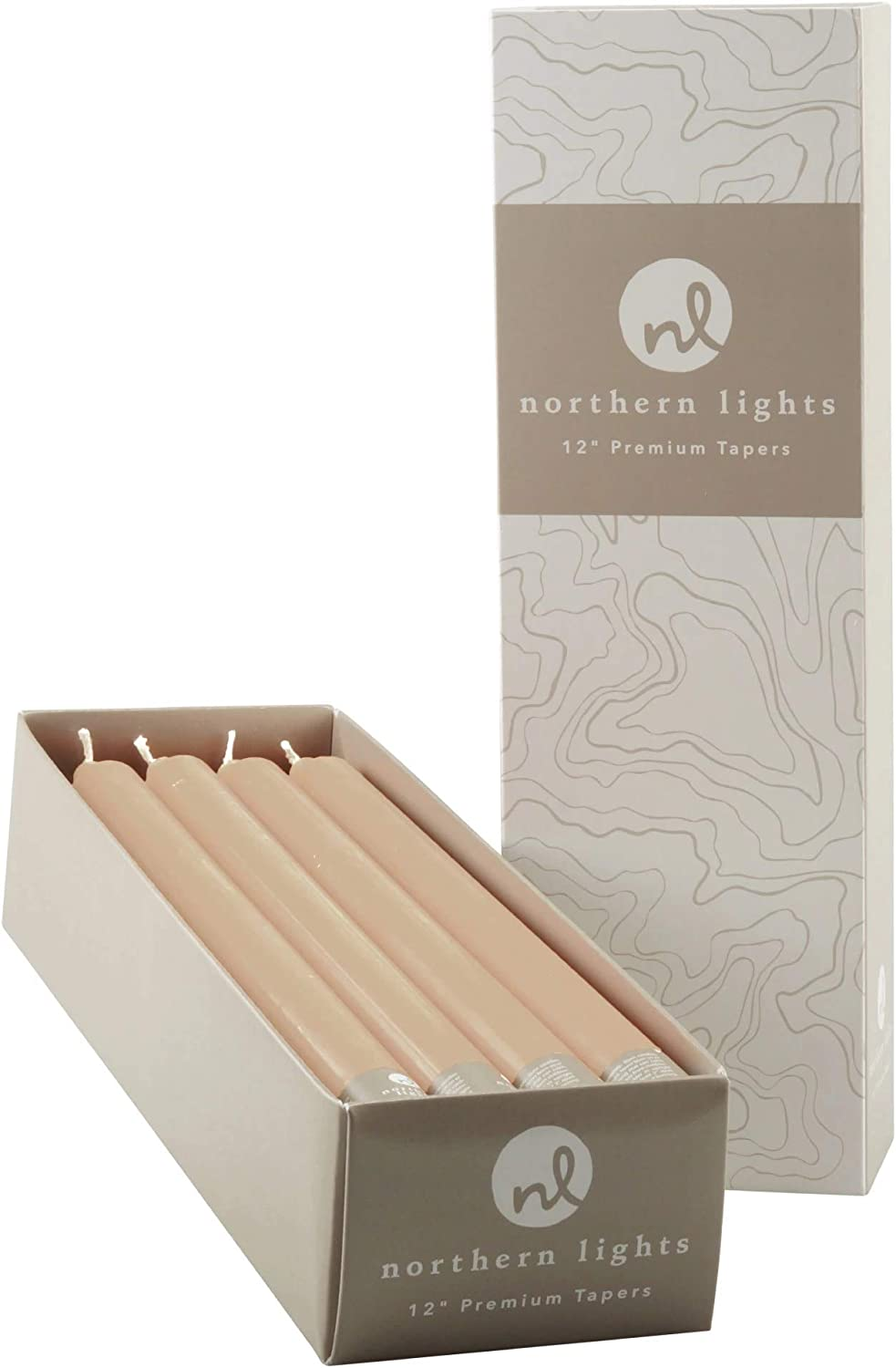Northern Lights New product!! Candles Candle Tan Tapers Max 64% OFF 12