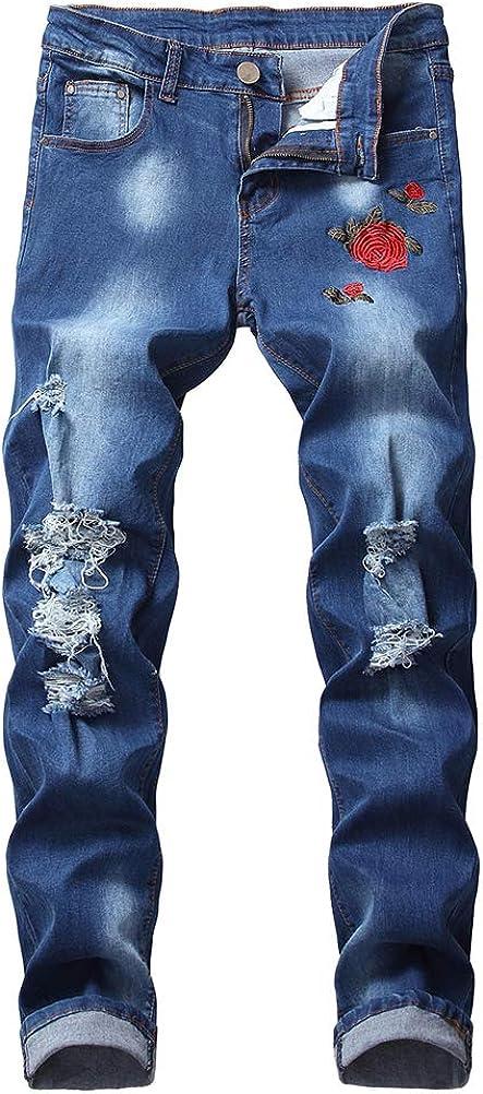 Atlanta Mall IDEALSANXUN Mens Biker Jeans Ripped Fit Skinny Jean Slim Max 51% OFF Stretch