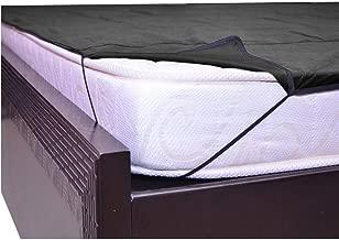 "Kuber Industries PVC Waterproof King Size Mattress Protector 78""x72"" (Black), CTKTC013919"