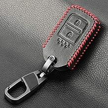 VistorHies - Keychain Leather Car Key Cover Case For Honda Vezel city civic Jazz BRV BR-V HRV Fit Remote Key Jacket Car-stying