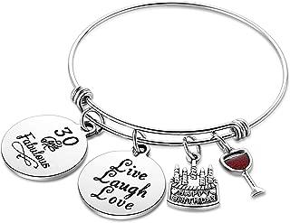 Nimteve Birthday Gifts for Her Expandable Bangle Birthday Bracelets for Women Charm Bracelet Happy Birthday Jewelry Gift Ideas
