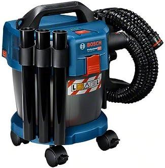 Bosch Professional GAS 18V-10 L - Aspirador a batería (18V, capacidad 10 l, manguera 1,6 m, 90 mbar, ruedas, adaptador, sin batería)
