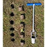 CHUMAA Bulb Planter, Weeder, Sod Plugger, Flower Planting, Soil Sampler-5-IN-1 Lawn Tool and Garden Tool - Enhanced… 20 SIMPLE AND EASY TO USE –To use, drive the Long-Handled Bulb Planter into the soil and turn clock-wise and counter-clockwise a few times to loosen up the dirt, then pull up. Dig 3.5inch diameter planting holes quickly, one after another, from a comfortable standing position. Avoid digging in dry or overly saturated soil. MULTI-USE GARDEN TOOL –Plant your garden favorites. Spring and fall bulbs, annuals, ground covers, vegetables and more. Makes a great lawn and sod plugger, weeding tool, soil sample tool and drip-edge fertilizing tool. TAKE THE PAIN OUT OF PLANTING –5-IN-1 Planting Tool allows you to work from a standing position, saving your back and knees. Comfortable, sturdy hand grips are helpful for seniors or those with mild arthritis.