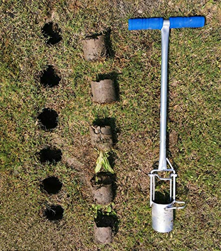 CHUMAA Bulb Planter, Weeder, Sod Plugger, Flower Planting, Soil Sampler-5-IN-1 Lawn Tool and Garden Tool - Enhanced… 10 SIMPLE AND EASY TO USE –To use, drive the Long-Handled Bulb Planter into the soil and turn clock-wise and counter-clockwise a few times to loosen up the dirt, then pull up. Dig 3.5inch diameter planting holes quickly, one after another, from a comfortable standing position. Avoid digging in dry or overly saturated soil. MULTI-USE GARDEN TOOL –Plant your garden favorites. Spring and fall bulbs, annuals, ground covers, vegetables and more. Makes a great lawn and sod plugger, weeding tool, soil sample tool and drip-edge fertilizing tool. TAKE THE PAIN OUT OF PLANTING –5-IN-1 Planting Tool allows you to work from a standing position, saving your back and knees. Comfortable, sturdy hand grips are helpful for seniors or those with mild arthritis.