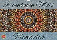 Regenbogen Mais Mandalas (Wandkalender 2022 DIN A3 quer): Einzigartige, digitale Mandalas in natuerlichen Farben (Monatskalender, 14 Seiten )