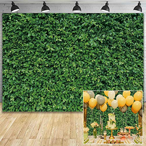 Msocio 7x5ft Durable Polyester Spring Fabric Greenery Leaves Grass Nature Photography Backdrop for Birthday Wedding Safari Dinosaur Baby Shower Party Decorations Background Portrait Photo Booth