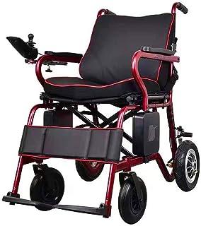 De peso ligero plegable sillas de ruedas eléctrica Silla de ruedas, 2020 completamente automática Silla de ruedas eléctrica plegable, controlador inteligente con pantalla LCD con una sola mano puede l