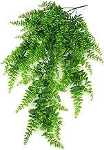 XHXSTORE HUAESIN 4Pcs Foug/ères Artificielles Ext/érieure Foug/ère Plantes Faux Arbustes Artificiels Verdure Buisson Boston Fougere Decoration pour Interieur Jardin Maison /à Pot Suspendu