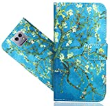 LG X Cam Coque, FoneExpert® Etui Housse Coque en Cuir Portefeuille Wallet Case Cover Pour LG X Cam