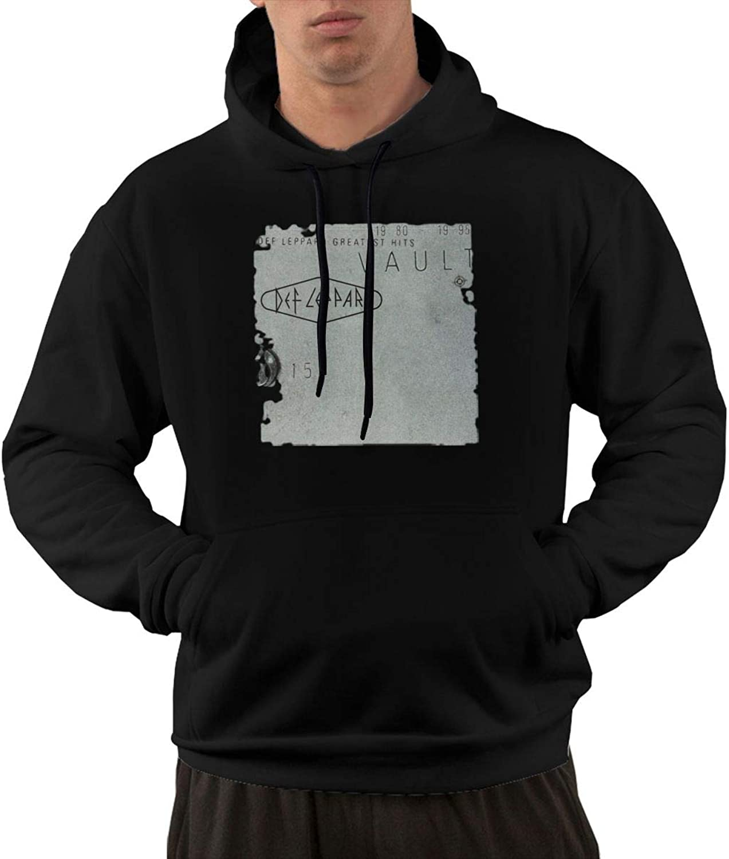 NolanO Def Leppard Vault Def Leppard Men's Hoodies Sweatshirt With Pocket Black