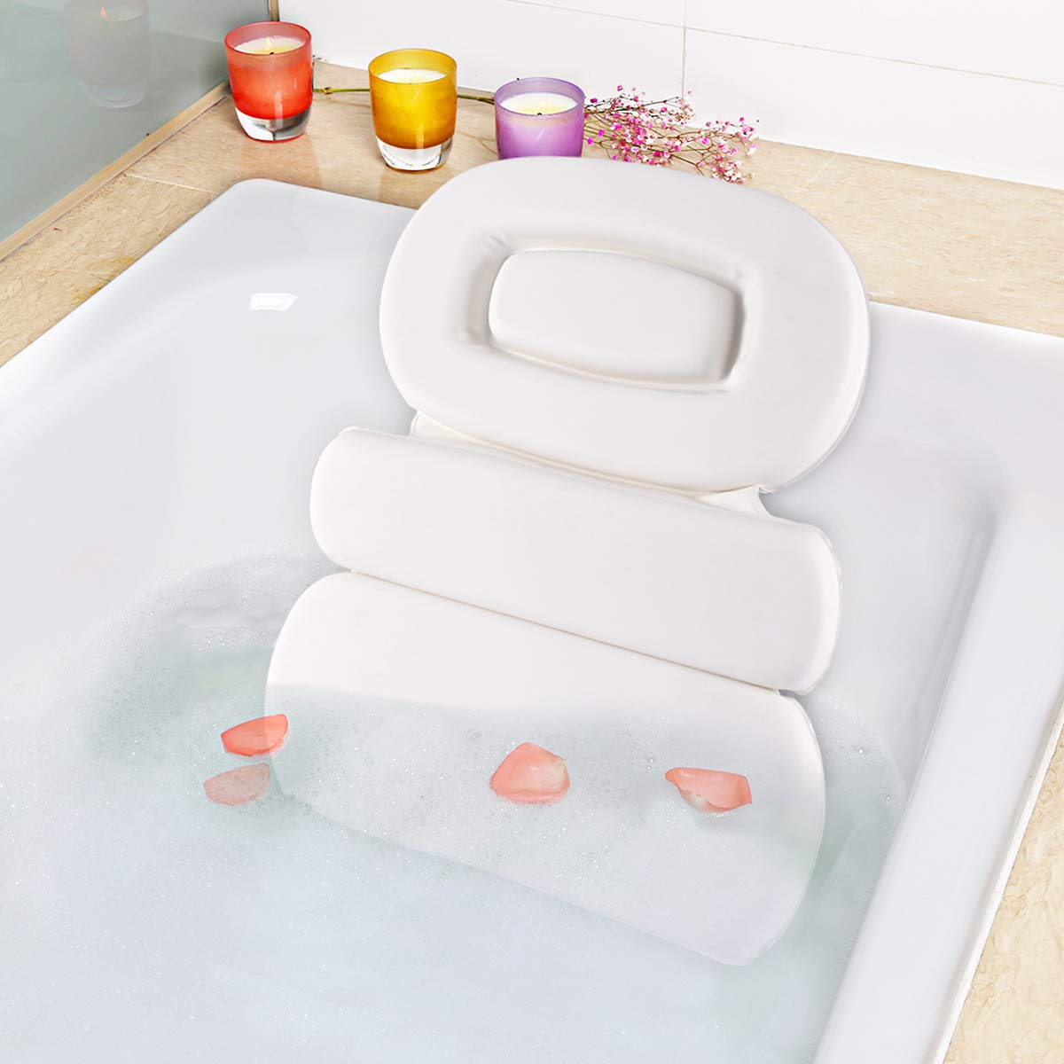 Wodesid Bathtub Pillow Luxury 3 T Panel Bath for OFFicial store Non-slip Today's only