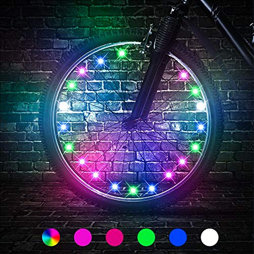 Cool Top Toys for 6-15 Year Old Boys, Water Resistant LED Bike Wheel Spoke Light Outdoor Easter Popular Gifts for 6-15 Year Old Boys Girls Easter Basket Stuffers Xmas Easter Toys Gifts for Boys
