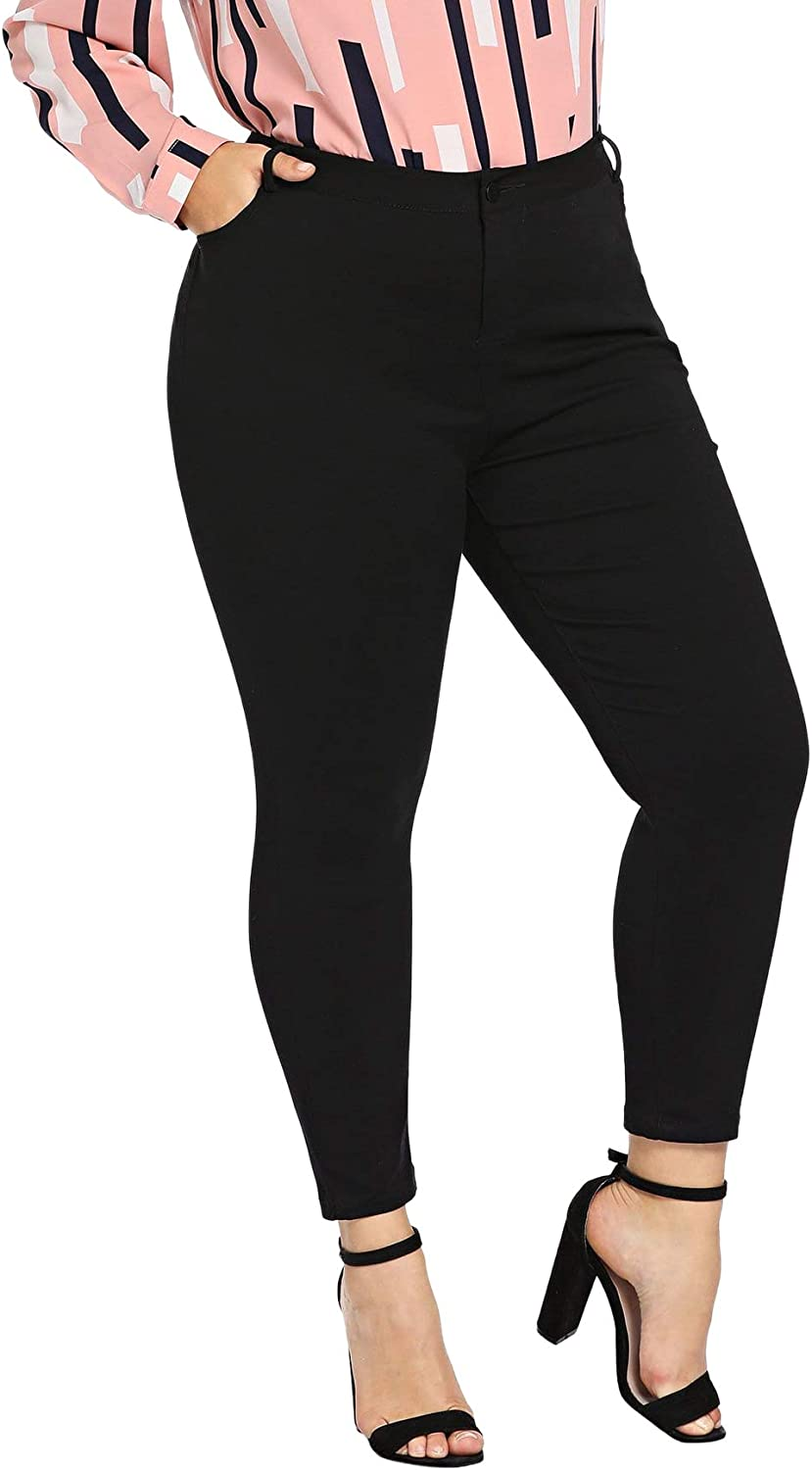 SOLY HUX Women's Plus Size High Waisted Jeans Skinny Stretch Denim Pants