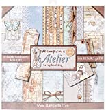 Stamperia Double-Sided Paper Pad 12'X12' 10/Pkg-Atelier, 10 Designs/1 Each