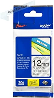 Brother TZe-131 Labelling Tape Cassette, Black on Clear, 12 mm (W) x 8 m (L), Laminated, Brother Genuine Supplies