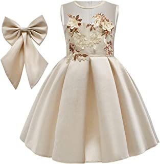 Fulision Girl Fashion Comfortable Sequin Embroidery Dresses Party Birthday Princess Dress